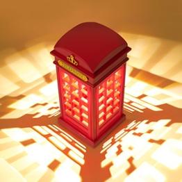 London Telefonzelle Nachttischlampe, MECO Dimmbare LED Nachtlicht Atmosphäre-Lampe Leselampe mit 3.5mm USB Cable (NICHT MIT Batterie) für Zimmer Dekoration, Kinder, Weihnachten und Geburtstag Geschenk -