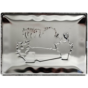 Nostalgic-Art 20384 Home und Country Jardin Francais, Blechschild, 30 x 40 cm -