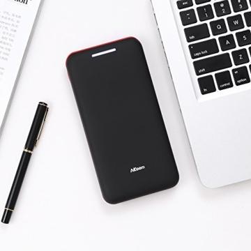 Powerbank AKEEM 22000mAh Akku mit 3 USB Ausgangen extrem hohe Kapazitat Powerbank für iPhone, iPad, Samsung Galaxy und andere Smartphones (Black.) -