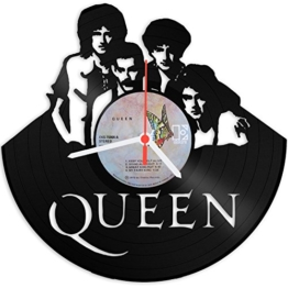 Queen Design Wanduhr aus Vinyl Schallplattenuhr im Upcycling Design Vinyl-Uhr Wand-Deko Vintage-Uhr Wand-Dekoration Retro-Uhr Made in Germany -