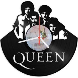 Queen Design Wanduhr aus Vinyl Schallplattenuhr im Upcycling Design Vinyl-Uhr Wand-Deko Vintage-Uhr Wand-Dekoration Retro-Uhr Made in Germany -