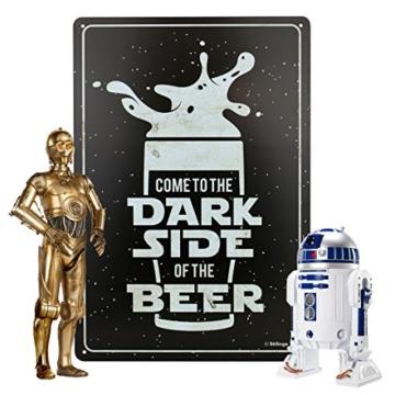 Retro-Blechschild Bier Dark Side Vintage Magnet-Metallschild Werbeschild 20x30 cm Türschild Dark Side Sprüche Deko Wandschild Geschenk Motiv -