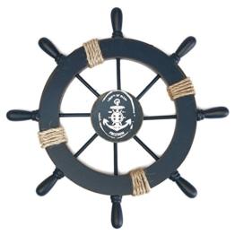 ROSENICE Steuerrad mit Anker Holz Wanddeko Maritime Deko -
