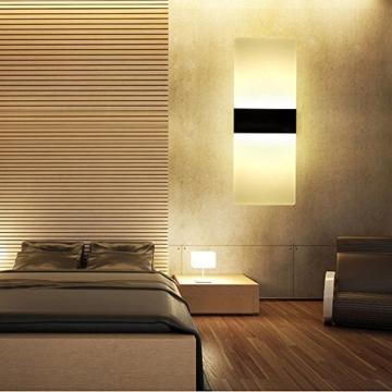 Splink LED Wandleuchte Modern Flurlampe Acryl Aluminum Wandlampe Für Innen  Schlafzimmer, Wohnzimmer, Treppenhaus(