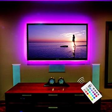 """TV Hintergrundbeleuchtung USB LED Leisten für 30"""" bis 40 Zoll Fernseher Flachbildschirm Wandhalterung Dekoration Smart LED Band Backlight Fernsehbeleuchtung -"""