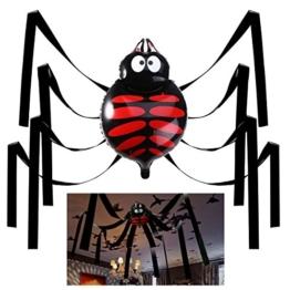 UNOMOR Halloween 20 Fuß Gigant Spinne Dekorationen Deckenhänger Set für Party -