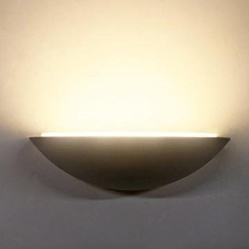 Wandleuchte 3W Alu LED Leuchtmittel Wandlampe Flurlampe Warmweiß 3000K Halbkreis Modern indirektes Licht für Schlafzimmer Bett Eingangsbereich -