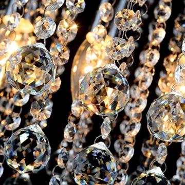 ZEEFO Kristallkronleuchter , Mini Stil Moderne Dekor Flachbauweise Mit K9 Kristall-Deckenleuchte Für Treppenhaus, Bar, Küche, Esszimmer, Kinderzimmer 20CM -