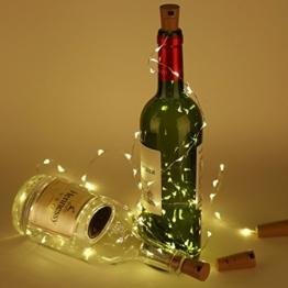 Flaschenlampe(9 Stück zusammen) mit Schraubendreher von iado, 20 leds Flaschenlicht mit warmweiß licht, Lichterketten als Deko für Party, Garten, Schlafzimmer, Weihnachten, Halloween und Hochzeit - 1