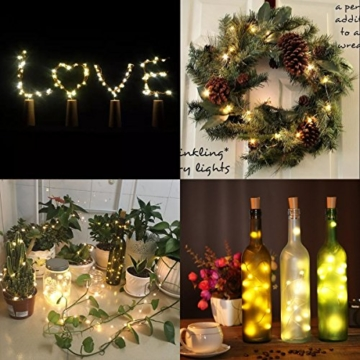Flaschenlampe(9 Stück zusammen) mit Schraubendreher von iado, 20 leds Flaschenlicht mit warmweiß licht, Lichterketten als Deko für Party, Garten, Schlafzimmer, Weihnachten, Halloween und Hochzeit - 4