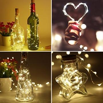 Flaschenlampe(9 Stück zusammen) mit Schraubendreher von iado, 20 leds Flaschenlicht mit warmweiß licht, Lichterketten als Deko für Party, Garten, Schlafzimmer, Weihnachten, Halloween und Hochzeit - 5