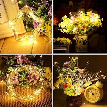 Flaschenlampe(9 Stück zusammen) mit Schraubendreher von iado, 20 leds Flaschenlicht mit warmweiß licht, Lichterketten als Deko für Party, Garten, Schlafzimmer, Weihnachten, Halloween und Hochzeit - 6