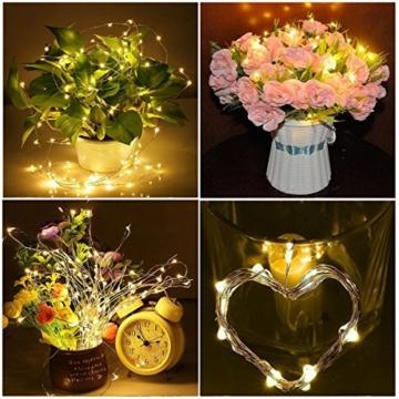 Flaschenlampe(9 Stück zusammen) mit Schraubendreher von iado, 20 leds Flaschenlicht mit warmweiß licht, Lichterketten als Deko für Party, Garten, Schlafzimmer, Weihnachten, Halloween und Hochzeit - 7
