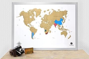 havalime® Premium XXL Rubbel Weltkarte - Scratch World Map - Limited Edition - Geschenkidee für Reisende - 82x59 cm - (Weiß) - 2