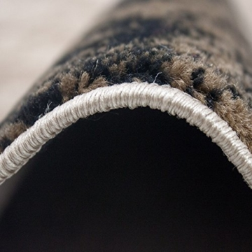Teppich Wohnzimmer Kurzflor Modern Meliert Kariert Marmor Muster Braun Beige, VIMODA, 80x150 cm - 4