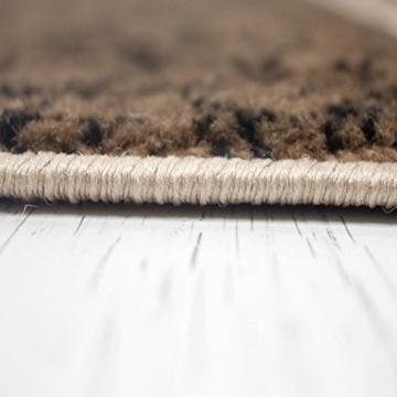 Teppich Wohnzimmer Kurzflor Modern Meliert Kariert Marmor Muster Braun Beige, VIMODA, 80x150 cm - 6