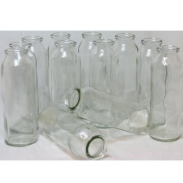 12 Stück Glasflaschen + gratis Dekoband H 16 cm
