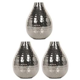 HOSLEY 's Set von 3Silber Farbe Metall Bud Vasen–11,4cm hoch. IDEAL Geschenk für Hochzeit, Home, SPA, Aromatherapie - 1