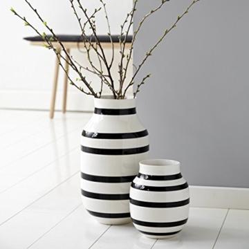 Kähler Design - Vase - Omaggio - Keramik - Schwarz (20cm) - 3