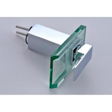 Auralum Glas Wasserhahn Waschbecken Armatur Waschtischarmatur LED RGB Licht und Modell Wählbar (Type B, mit LED RGB Licht) - 4