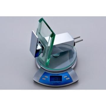 Auralum Glas Wasserhahn Waschbecken Armatur Waschtischarmatur LED RGB Licht und Modell Wählbar (Type B, mit LED RGB Licht) - 7