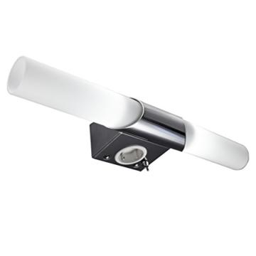 B.K. Licht BKL1021 LED Spiegelleuchte, Chrom, 5 W, Ø 75 mm, 2 Leuchtmittel - 2