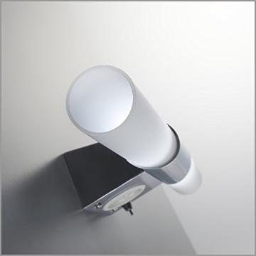 B.K. Licht BKL1021 LED Spiegelleuchte, Chrom, 5 W, Ø 75 mm, 2 Leuchtmittel - 3