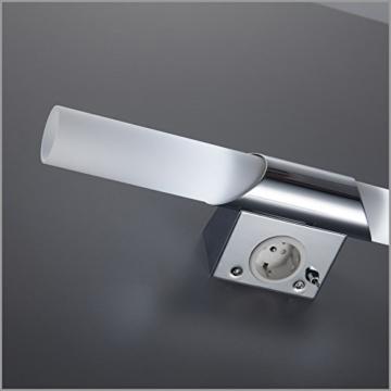 B.K. Licht BKL1021 LED Spiegelleuchte, Chrom, 5 W, Ø 75 mm, 2 Leuchtmittel - 4