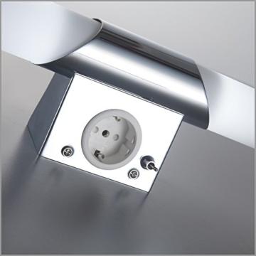 B.K. Licht BKL1021 LED Spiegelleuchte, Chrom, 5 W, Ø 75 mm, 2 Leuchtmittel - 6