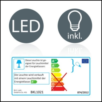 B.K. Licht BKL1021 LED Spiegelleuchte, Chrom, 5 W, Ø 75 mm, 2 Leuchtmittel - 7
