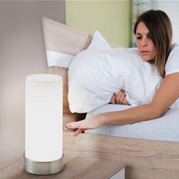 B.K.Licht Tischleuchte | Nachttisch-Leuchte für Schlafzimmer | Berührungssensor | Touchfunktion | IP20 - 3