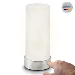 B.K.Licht Tischleuchte | Nachttisch-Leuchte für Schlafzimmer | Berührungssensor | Touchfunktion | IP20 - 1