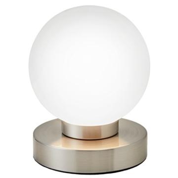 B.K.Licht Tischleuchte | Tischleuchte | Nachttisch-Leuchte für Schlafzimmer | Berührungssensor |Touchfunktion | IP20 - 2