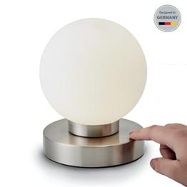 B.K.Licht Tischleuchte | Tischleuchte | Nachttisch-Leuchte für Schlafzimmer | Berührungssensor |Touchfunktion | IP20 - 1
