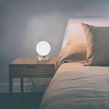 B.K.Licht Tischleuchte | Tischleuchte | Nachttisch-Leuchte für Schlafzimmer | Berührungssensor |Touchfunktion | IP20 - 4