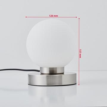B.K.Licht Tischleuchte | Tischleuchte | Nachttisch-Leuchte für Schlafzimmer | Berührungssensor |Touchfunktion | IP20 - 5