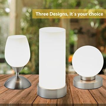 B.K.Licht Tischleuchte | Tischleuchte | Nachttisch-Leuchte für Schlafzimmer | Berührungssensor |Touchfunktion | IP20 - 6