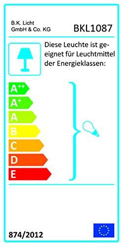 B.K.Licht Tischleuchte | Tischleuchte | Nachttisch-Leuchte für Schlafzimmer | Berührungssensor |Touchfunktion | IP20 - 8