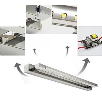 ELINKUME 5W 21 LEDs SMD 5050 Edelstahl LED Spiegel Licht Wandleuchte Badleuchte Bad Badlampe Kaltweiss - 5