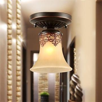 JJ Moderne LED-Deckenleuchten YL Kronleuchter Pendelleuchten LED Vintage Deckenlampen klassische rustikale Lodge Vintage Retro Laterne Wohnzimmer Schlafzimmer Esszimmer , warm Weiß-(220V-240V) - 2