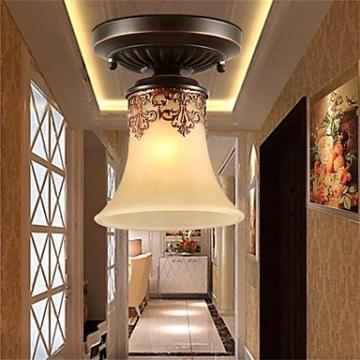 JJ Moderne LED-Deckenleuchten YL Kronleuchter Pendelleuchten LED Vintage Deckenlampen klassische rustikale Lodge Vintage Retro Laterne Wohnzimmer Schlafzimmer Esszimmer , warm Weiß-(220V-240V) - 3