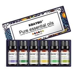 KBAYBO Aromatherapie Top 6 Ätherische Öle Blend Sets (Lavendel/Teebaum / Rosmarin/Orange / Zitronengras/Pfefferminze), 100% Pure Premium Therapeutic Grade Oils - 1