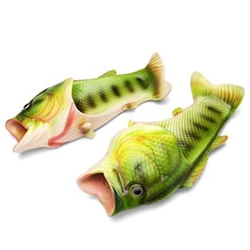 TININNA Unisex Lustige Hausschuhe Anti Skid Fisch Muster Hausschuhe für den Strand Bad Flip Flops Schuhe für Kinder Erwachsene - 2