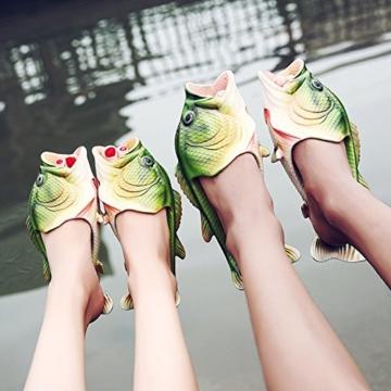 TININNA Unisex Lustige Hausschuhe Anti Skid Fisch Muster Hausschuhe für den Strand Bad Flip Flops Schuhe für Kinder Erwachsene - 6