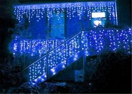 216 LED 5M Eisregen/Eiszapfen Lichter, LED Lichtervorhang Lichter, Weihnachtsdeko Weihnachtsbeleuchtung Deko Christmas INNEN und AUSSEN, LED String Licht [NEWEST] - 1