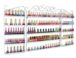 3in 1Wand montiert Metall Salon Nail Polish Display Rack ätherischen Ölen Display Aufbewahrung für mehr als 200Flaschen - 1