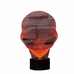 3D Lampe USB Power 7 Farben Amazing Optical Illusion 3D wachsen LED Lampe Alien Formen Kinder Schlafzimmer Nacht Licht - 1
