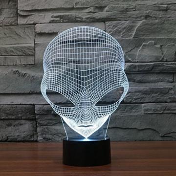3D Lampe USB Power 7 Farben Amazing Optical Illusion 3D wachsen LED Lampe Alien Formen Kinder Schlafzimmer Nacht Licht - 7