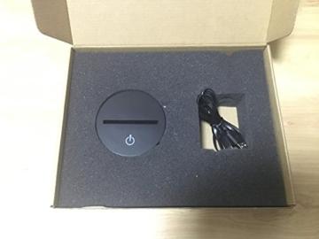 3D Lampe USB Power 7 Farben Amazing Optical Illusion 3D wachsen LED Lampe Alien Formen Kinder Schlafzimmer Nacht Licht - 9