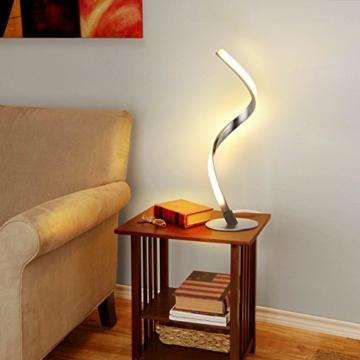 Albrillo Spiral LED Tischlampe aus Aluminium, Moderne 6W Tischleuchte warmweiß mit 1.5 m Kabel Perfekt für Schlafzimmer Wohnzimmer - 5
